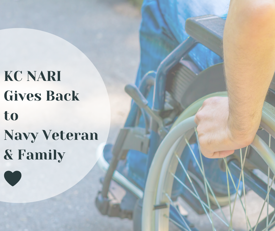 KC NARI Service Project Builds Hope For Navy Veteran & Family